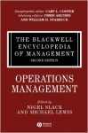 The Blackwell Encyclopedia of Management. In 12 volumes. Volume 10. Operations Management