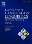 Encyclopedia of Language and Linguistics. In 14 volumes