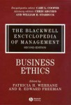 The Blackwell Encyclopedia of Management. In 12 volumes. Volume 2. Business Ethics