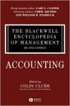The Blackwell Encyclopedia of Management. In 12 volumes. Volume 1. Accounting